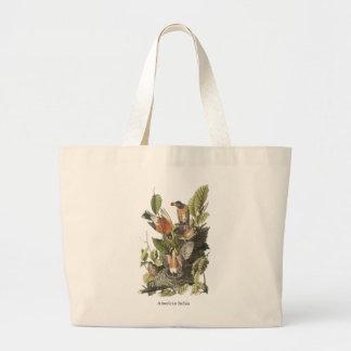 American Robin John Audubon Print Tote Bags