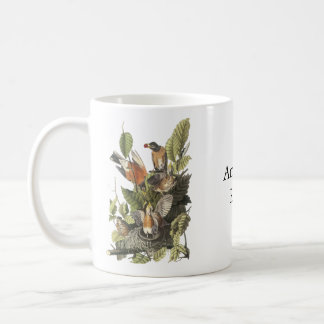 American Robin John Audubon Print Coffee Mugs