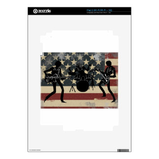 American Rock Band Decals For iPad 2