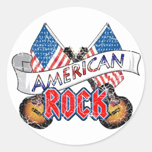 American Rock Classic Round Sticker