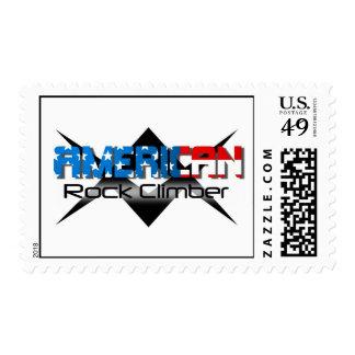 American Rockclimber Patriotic Rock Climber Stamps