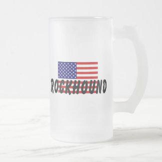 American Rockhound Frosted Glass Beer Mug