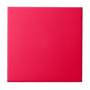 American Rose A Solid Reddish Pink Color Tile