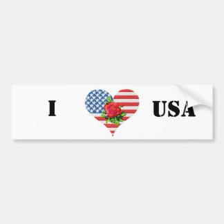 american rose heart bumpersticker car bumper sticker