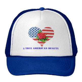 American rose heart on hat