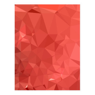 American Rose Red Abstract Low Polygon Background Postcard