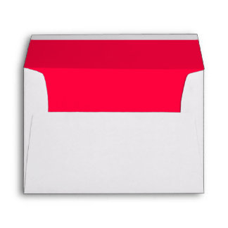 American Rose Red Solid Background Lined Envelope