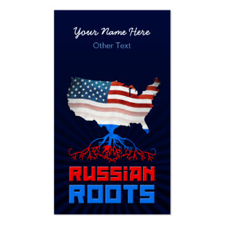 American Russian Roots Business Cards