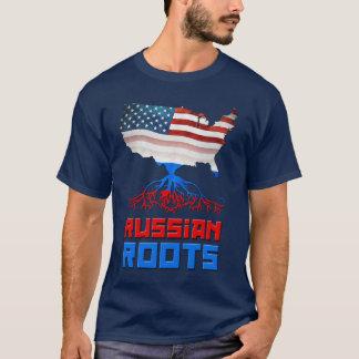 American Russian Roots Men's T-shirt