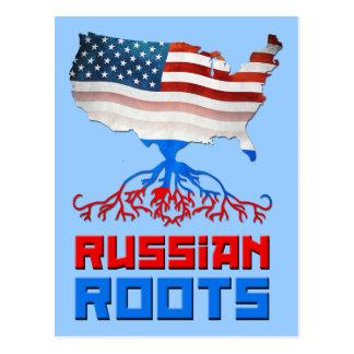 American Russian Roots Postcard