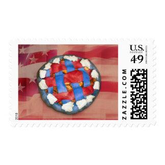 American RWB Pie Postage Stamps