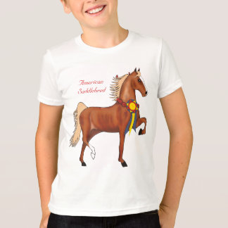 American Saddlebred Champion Kids Ringer T-shirt