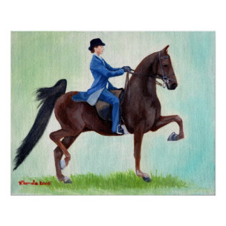 American Saddlebred Exhuberation Horse Portrait Poster