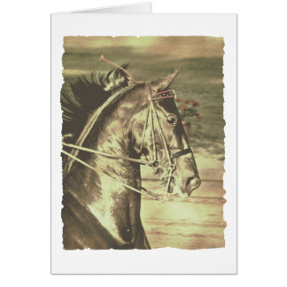 American Saddlebred Faux Vintage Card