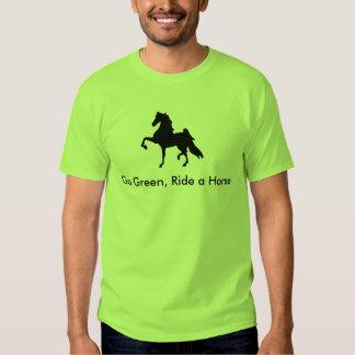 American Saddlebred -  Go Green, Ride a Horse T T-shirts