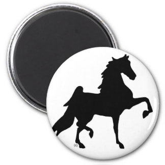 American Saddlebred Horse 2 Inch Round Magnet