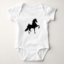 American Saddlebred Horse Baby Bodysuit