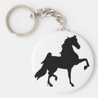 American Saddlebred Horse Basic Round Button Keychain