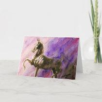 American Saddlebred Horse Blank Greeting Card