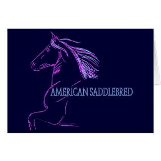 American Saddlebred Horse Lines Greeting Card