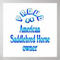 American Saddlebred Horse Owner Print