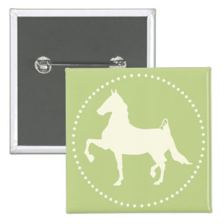 American Saddlebred Horse Silhouette Button