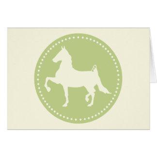 American Saddlebred Horse Silhouette Card