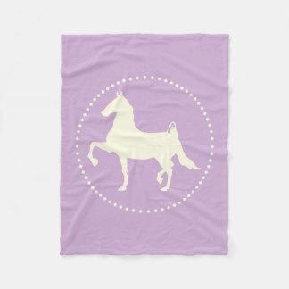 American Saddlebred Horse Silhouette Fleece Blanket