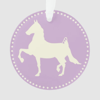 American Saddlebred Horse Silhouette Ornament