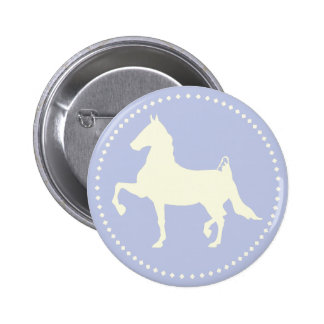 American Saddlebred Horse Silhouette Pinback Button