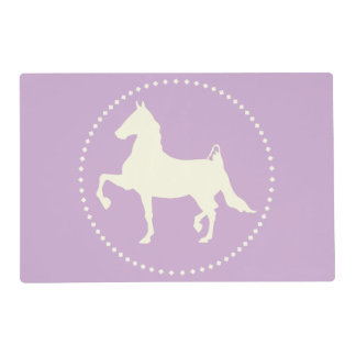 American Saddlebred horse silhouette Placemat
