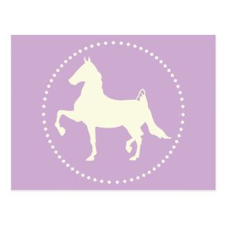 American Saddlebred Horse Silhouette Postcard