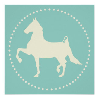 American Saddlebred Horse Silhouette Poster