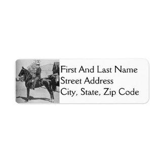 American Saddlebred Horse Vintage Photograph Label