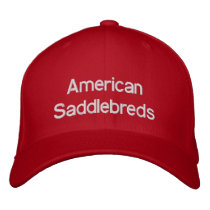 American Saddlebred Horses Embroidered Baseball Hat