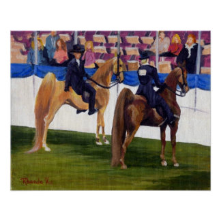 American Saddlebred On The Rail Horse Portrait Poster