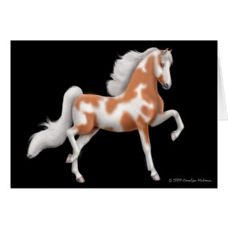 American Saddlebred Paint Horse Greeting Card