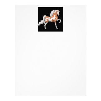 American Saddlebred Paint Horse Stationery Customized Letterhead