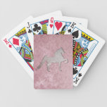 American Saddlebred Weathered Purple Playing Cards