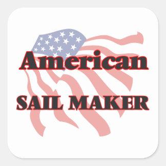 American Sail Maker Square Sticker