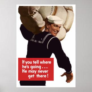 American Sailor War Poster