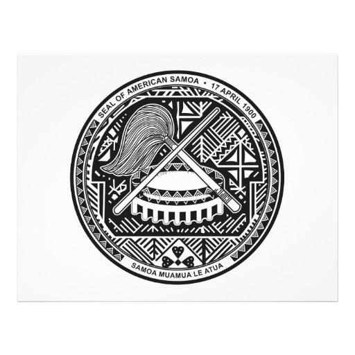 "American Samoa Coat of Arms 8.5"" X 11"" Flyer"