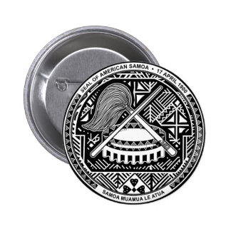American Samoa Coat of Arms 2 Inch Round Button