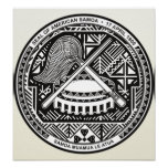 American Samoa Coat of Arms detail Poster