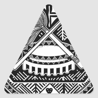 American Samoa Coat of Arms Triangle Sticker