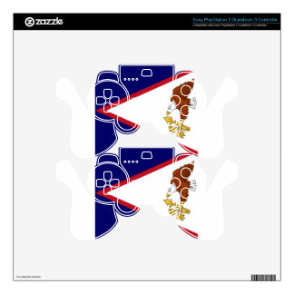 American Samoa Flag Decal For PS3 Controller