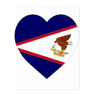 American Samoa Flag Heart Postcard