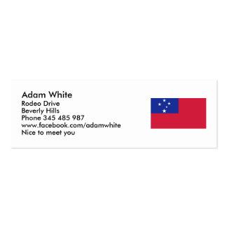 American Samoa flag Mini Business Card