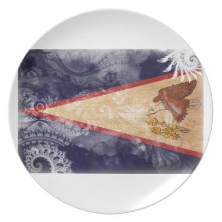 American Samoa Flag Dinner Plates