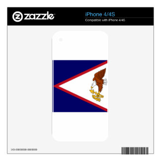 American Samoa Flag Skins For iPhone 4